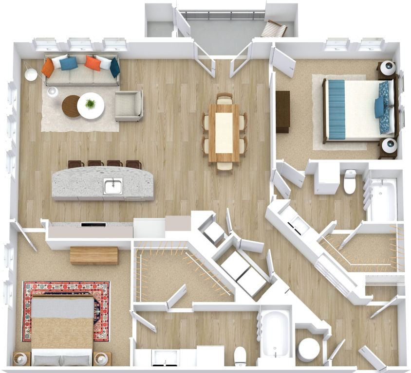 Two Bedroom, Two Bath w/ Den (C14)