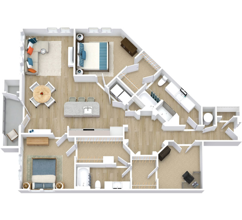 Two Bedroom, Two Bath (C13)