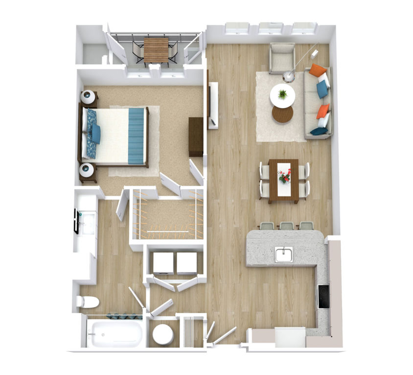 One Bedroom, One Bath (A08)