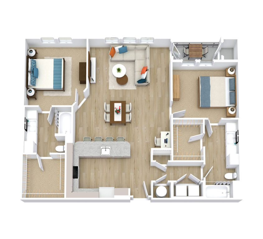 Two Bedroom, Two Bath (C01)