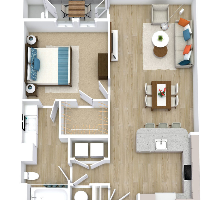 One Bedroom, One Bath (A09)