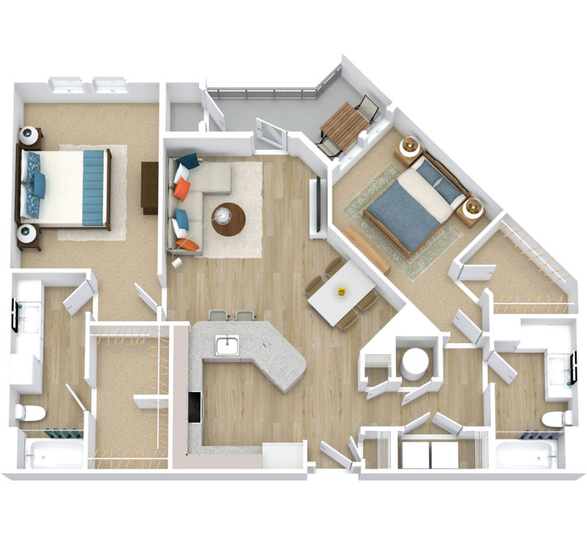 Two Bedroom, Two Bath (C06)
