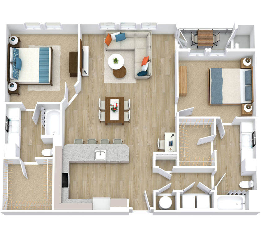Two Bedroom, Two Bath (C07)